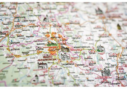 зображення 12 - Детальна карта України на українській мові Набір Native 68х47
