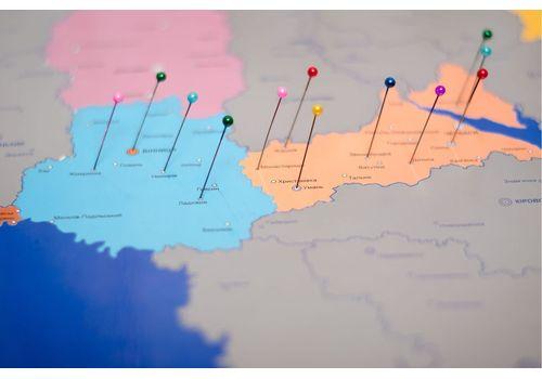фото 6 - Скретч карта Украины на украинском языке Набор Super Ukraine 68х47