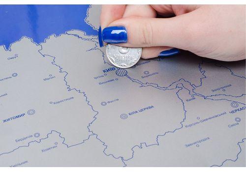 фото 7 - Скретч карта Украины на украинском языке Набор Super Ukraine 68х47