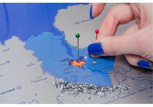 фото 8 - Скретч карта Украины на украинском языке Набор Super Ukraine 68х47