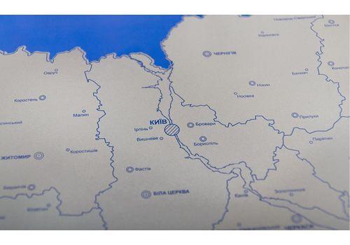 фото 9 - Скретч карта Украины на украинском языке Набор Super Ukraine 68х47