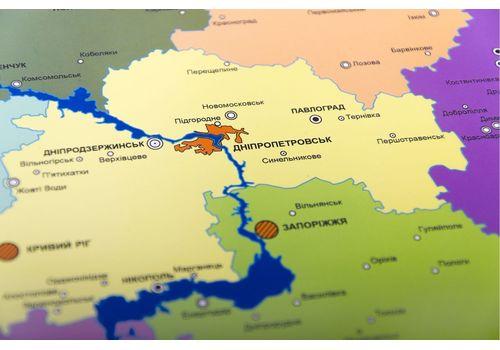 фото 11 - Скретч карта Украины на украинском языке Набор Super Ukraine 68х47