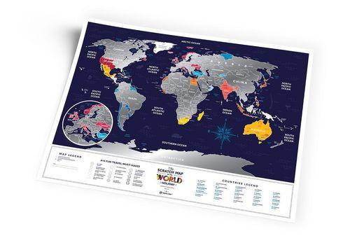 "фото 6 - Скретч-карта 1DEA.me ""Holiday world"" eng (80*60см)"