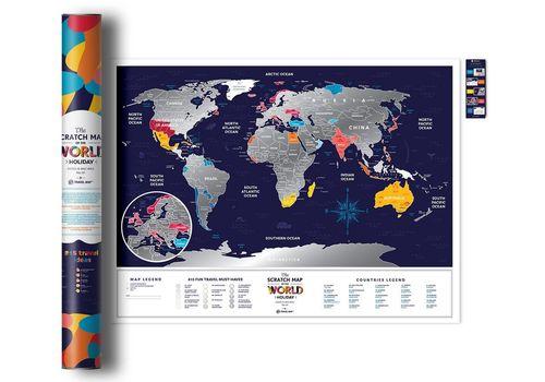 "фото 1 - Скретч-карта 1DEA.me ""Holiday world"" eng (80*60см)"