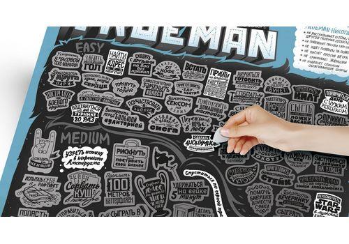 "зображення 5 - Скретч-карта 1DEA.me ""100 дел Trueman"" rus (40*60см)"
