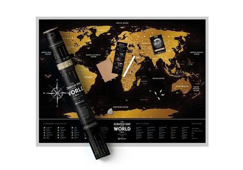 "фото 1 - Скретч-карта 1DEA.me ""Travel map black"" eng (60*80см)"