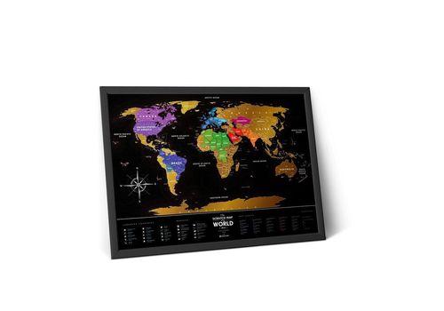 "фото 2 - Скретч-карта 1DEA.me ""Travel map black"" eng (60*80см)"