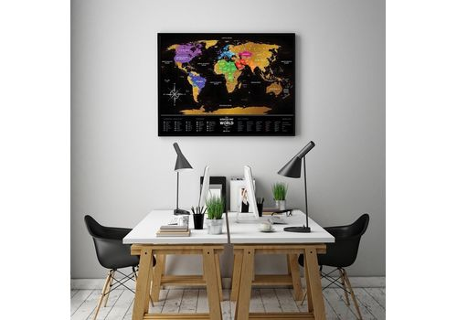 "фото 7 - Скретч-карта 1DEA.me ""Travel map black"" eng (60*80см)"