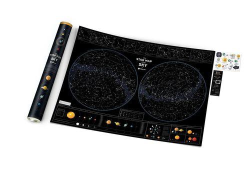 "зображення 2 - Скретч-карта 1DEA.me ""Star map of the sky"" eng (60*80см)"