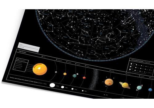 "зображення 5 - Скретч-карта 1DEA.me ""Star map of the sky"" eng (60*80см)"