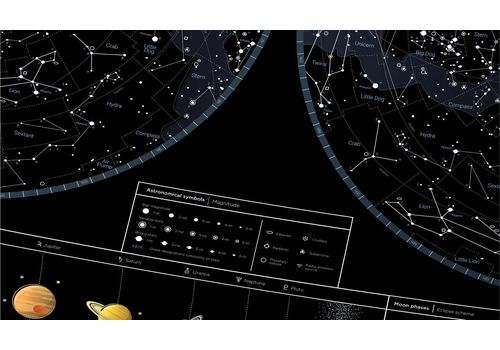 "зображення 7 - Скретч-карта 1DEA.me ""Star map of the sky"" eng (60*80см)"