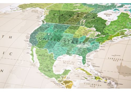 "фото 3 - Скретч-карта 1DEA.me ""Geography world"" eng (88*60см)"