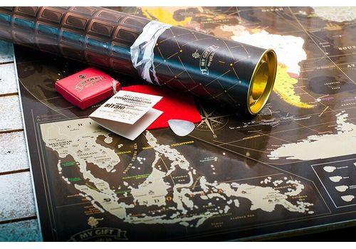 зображення 2 - Скретч карта світу My Map Chocolate edition 88х63