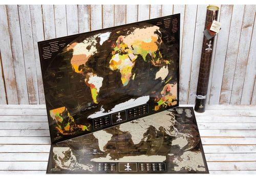 зображення 1 - Скретч карта світу My Map Chocolate edition 88х63