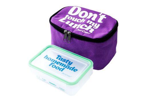 "фото 1 - Ланч-бэг Just cover ""Don't touch my lunch"" фиолетовый 195 х 125 х 125 мм"