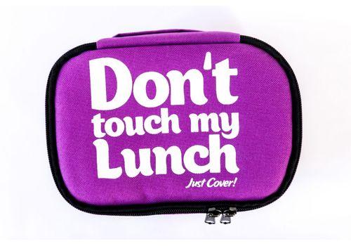 "фото 2 - Ланч-бэг Just cover ""Don't touch my lunch"" фиолетовый 195 х 125 х 125 мм"