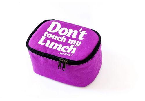 "фото 3 - Ланч-бэг Just cover ""Don't touch my lunch"" фиолетовый 195 х 125 х 125 мм"