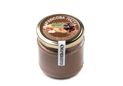 """фото 1 - Паста арахисовая Manteca """"С черным шоколадом"""" 180 г"""