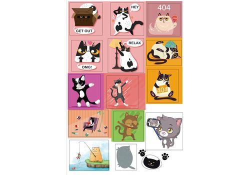 """Наклейки WOW Stickers """"OMG"""" Котики, фото 1"""