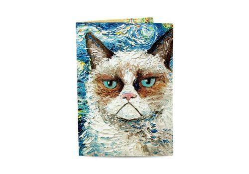 "зображення 1 - Обкладинка на паспорт Just cover ""Ван кот"" 13,5 х 9,5 см"