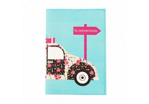 "зображення 1 - Обкладинка на паспорт Just cover ""Retro car"" 13,5 х 9,5 см"