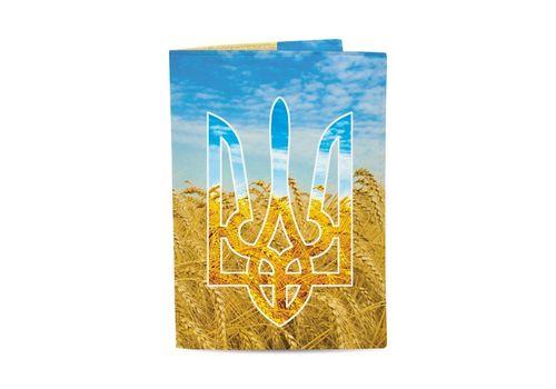 "зображення 1 - Обкладинка на паспорт Just cover ""Герб та пшениця"" 13,5 х 9,5 см"