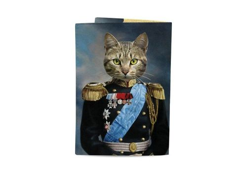 "зображення 3 - Обкладинка на паспорт Just cover ""Кіт Імператор"" 13,5 х 9,5 см"