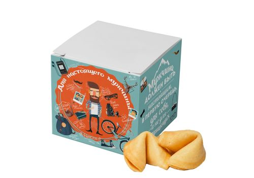 """фото 1 - Печенье с предсказаниями Сладкая доза """"Для настоящего мужчины"""""""