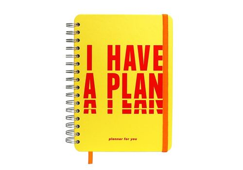"""фото 1 - Big planner """"I HAVE A PLAN"""" yellow"""