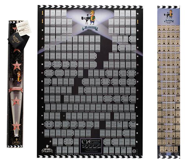 My Poster Cinema edition - первый и единственный в мире мотивационный скретч-кинопостер. Стирай скретч слой из фильмов и сериалов, которые посмотрел, стал им оценку и планируй, которую киноленту посмотреть следующей. На постере 300 фильмов, снятых в 21 веке.